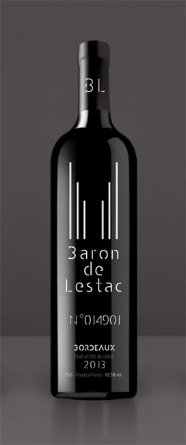 graphisme vin baron de lestac